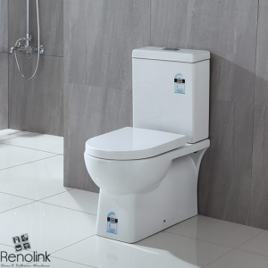 ZEENA FULL CERAMIC BATHROOM TOILET SUITE BACK TO WALL SOFT CLOSE SEAT REN01