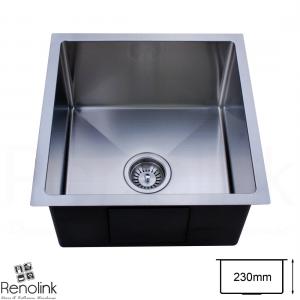 440x440mm Handmade laundry kitchen sink top/under mount stainless steel 4444R
