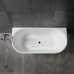 Bathroom Free Standing Bath Tub 1500x700x600 Back To Wall Freestanding REN191