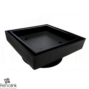 BATHROOM BLACK SMART TILE INSERT FLOOR WASTE DRAIN 90MM FITS 100MM PIPE ST90-BLK
