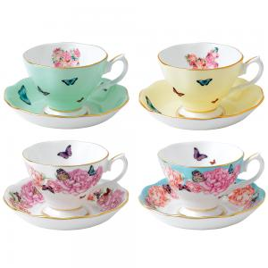 Royal Albert Miranda Kerr Mixed Teacup & Saucer Set 8 piece