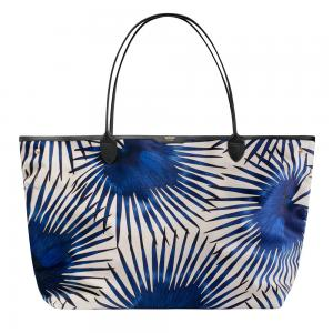 Wouf Blue Palms Velvet Tote Bag