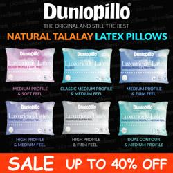DUNLOPILLO Luxurious Talalay Latex Pillows