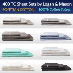 400TC 100% Egyptian Cotton Sateen Sheet Set