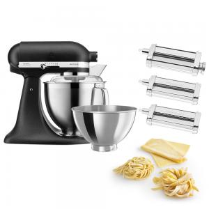 KitchenAid KSM177 Cast Iron Black Mixer with Pasta Set